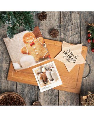 """Набор подарочный """"Hot cocoa weather"""" кух полотенце и акс. арт. СМЛ-111101-1-СМЛ0005271280"""