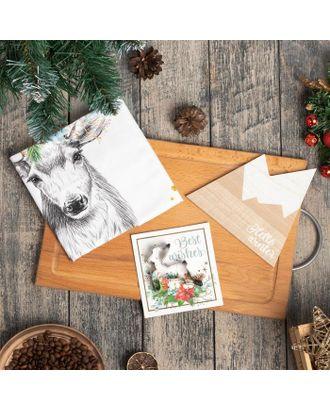 """Набор подарочный """"Merry christmas"""" кух полотенце и акс. арт. СМЛ-111104-1-СМЛ0005271283"""