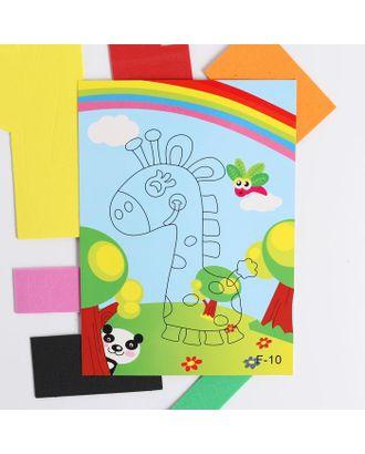 Аппликация 3D «Жираф и радуга» из ЕVA арт. СМЛ-122445-1-СМЛ0005287637