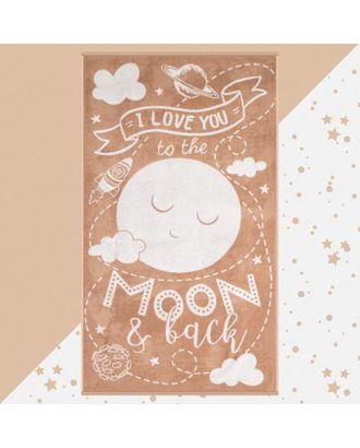 """Полотенце махровое """"Этель"""" Moon, 70х130 см, 100% хлопок, 420гр/м2 арт. СМЛ-124708-1-СМЛ0005287913"""