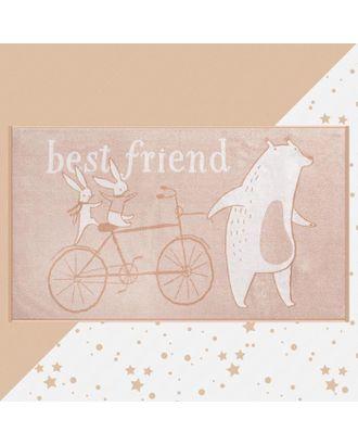 """Полотенце махровое """"Этель"""" Best friend, 70х130 см, 100% хлопок, 420гр/м2 арт. СМЛ-124709-1-СМЛ0005287915"""