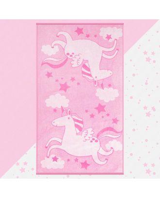"""Полотенце махровое """"Этель"""" Pink Unicorn, 70х130 см, 100% хлопок, 420гр/м2 арт. СМЛ-124711-1-СМЛ0005287918"""