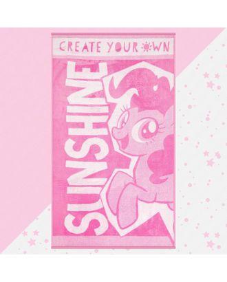 "Полотенце махровое ""Sunshine"" My Little Pony, 70х130 см, 100% хлопок, 420гр/м2 арт. СМЛ-124713-1-СМЛ0005287922"