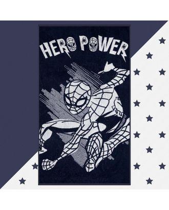 """Полотенце махровое """"Hero power"""" Человек Паук, 70х130 см, 100% хлопок, 420гр/м2 арт. СМЛ-124729-1-СМЛ0005287929"""