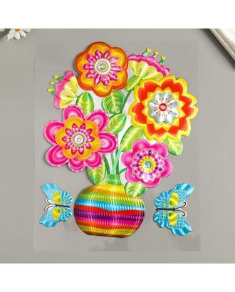 """Наклейка бумага """"Цветы в вазе"""" МИКС 25х20 см арт. СМЛ-122233-1-СМЛ0005294758"""