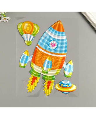 "Наклейка бумага ""Ракета"" 25х20 см арт. СМЛ-122236-1-СМЛ0005294761"