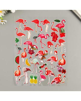 "Наклейка пластик ""Фламинго"" МИКС 25х20 см арт. СМЛ-122238-1-СМЛ0005294763"