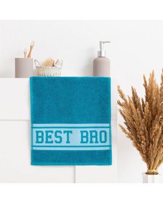"Полотенце махровое ""Best Bro"" 30х70 см, 100% хл, 370гр/м2 арт. СМЛ-124670-1-СМЛ0005307741"