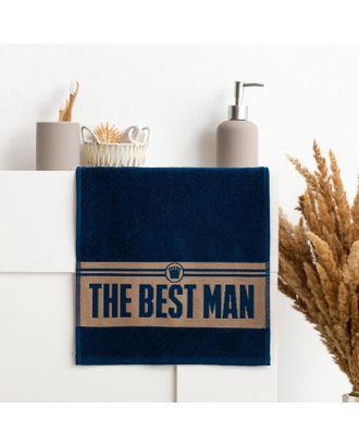 "Полотенце махровое ""The best man"" 30х70 см, 100% хл, 370гр/м2 арт. СМЛ-124671-1-СМЛ0005307742"