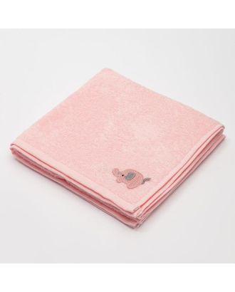 """Полотенце детское Крошка Я """"Слоник"""" 50*90 см, цв.розовый 100% хлопок арт. СМЛ-106106-1-СМЛ0005351024"""