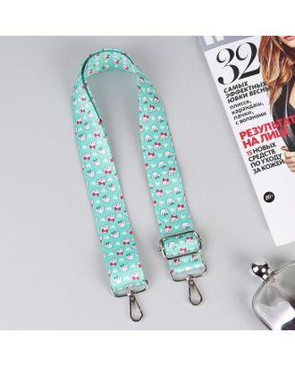 Ручка для сумки, стропа,130 ± 5 см, ширина 40 мм, собачки арт. СМЛ-107912-1-СМЛ0005353858