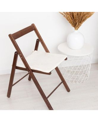 Сидушка на стул жаккард фиалка молочный 40х40х1,5см пэ100% арт. СМЛ-112984-1-СМЛ0005361927