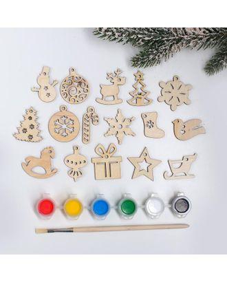 Подвески новогодние №5, 4×4 см арт. СМЛ-123026-1-СМЛ0005367770