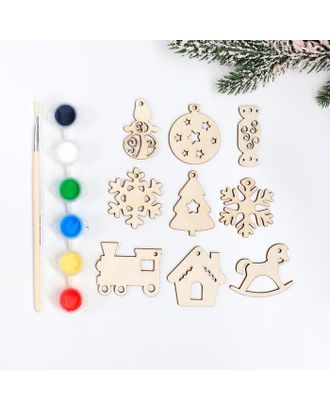 Подвески новогодние №8, 5×5 см арт. СМЛ-123029-1-СМЛ0005367773