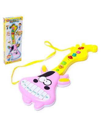 """Игрушка музыкальная - гитара """"Коровка"""", звуковые эффекты, работает от батареек арт. СМЛ-116444-1-СМЛ0005384697"""