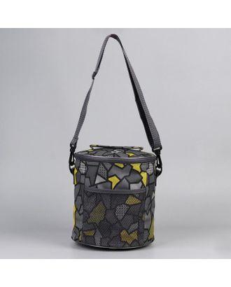 Сумка- Футляр d21см*23см 2 люверса 1 карман серые/желтые арт. СМЛ-107200-1-СМЛ0005387608