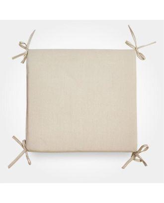 Сидушка на стул бамбук св бежевый 34х34х1,5см, жаккард, поролон пэ100% арт. СМЛ-112481-1-СМЛ0005388969