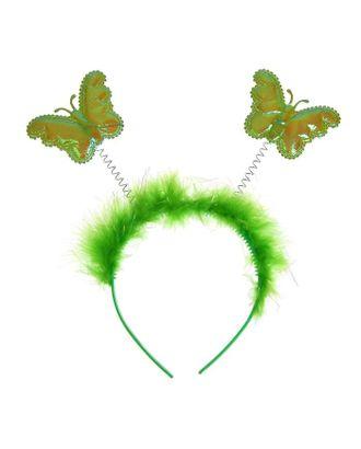 Карнавальный ободок «Бабочка», цвет зелёный арт. СМЛ-122999-1-СМЛ0005399919