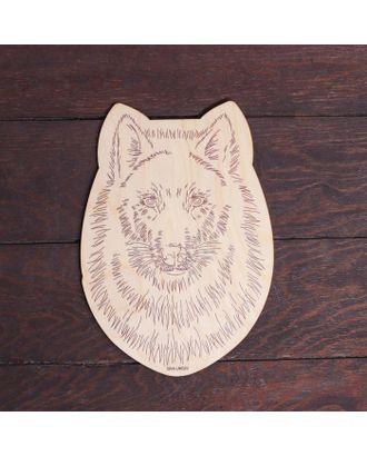 """Заготовки для творчества. Доска для выжигания """"Волк"""", Т1008 арт. СМЛ-122767-1-СМЛ0005413507"""