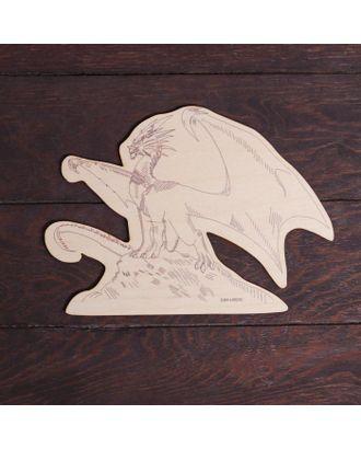 """Заготовки для творчества. Доска для выжигания """"Дракон"""", Т1010 арт. СМЛ-122769-1-СМЛ0005413509"""