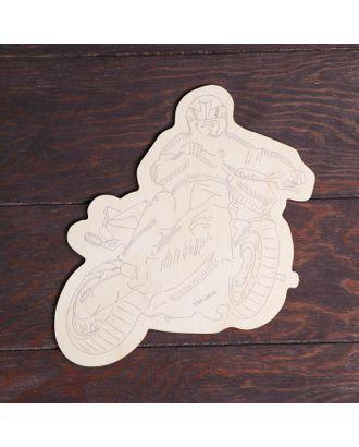 """Заготовки для творчества. Доска для выжигания """"Мотоцикл"""", Т1011 арт. СМЛ-122770-1-СМЛ0005413510"""