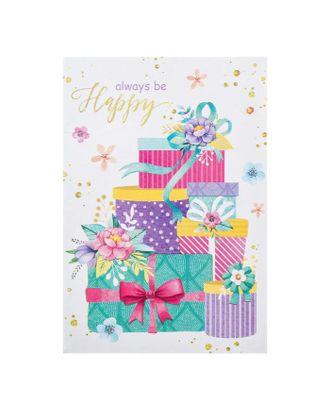 "Открытка-мини ""Be  Happy!"" подарки арт. СМЛ-115769-1-СМЛ0005421756"