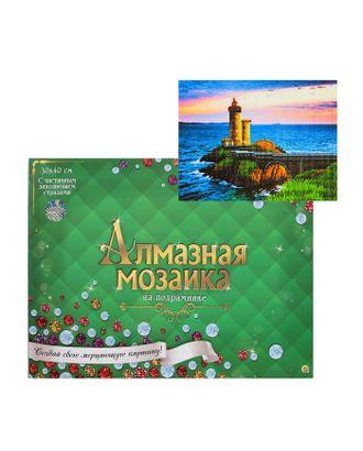 Алмазная мозаика блестящая 30х40 см, с подрамником, с частичным заполнением,17 цветов «На краю света» арт. СМЛ-122832-1-СМЛ0005441750