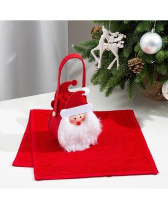 Полотенце в корзинке Этель «Дед Мороз» 30х60 см арт. СМЛ-122775-1-СМЛ0005441780