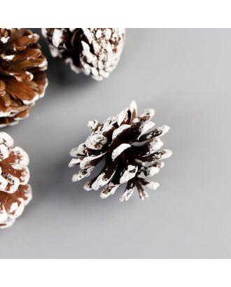 Набор декоративных шишек 100 гр с белым арт. СМЛ-124135-1-СМЛ0005445374