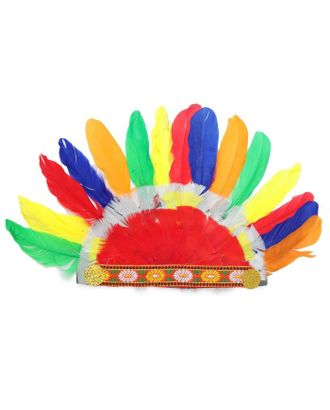 Головной убор Индейца из цветных перьев арт. СМЛ-124161-1-СМЛ0005459993