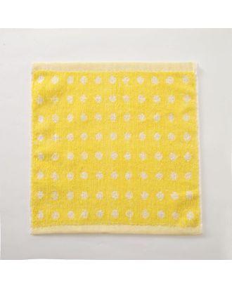 """Полотенце махровое Крошка Я """"Крапинка"""" 25*25 см, цв.желтый, 100% хлопок, 360 гр/м2 арт. СМЛ-125235-1-СМЛ0005469123"""