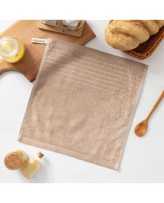 """Полотенце махровое Крошка Я """"Simple"""" 34*34 см, цв.коричневый, 100% бамбук, 420 гр/м2 арт. СМЛ-125257-1-СМЛ0005469145"""
