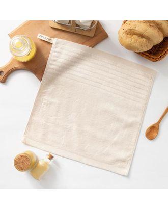 """Полотенце махровое Крошка Я """"Simple"""" 34*34 см, цв.молочный, 100% бамбук, 420 гр/м2 арт. СМЛ-125258-1-СМЛ0005469146"""