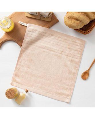 """Полотенце махровое Крошка Я """"Simple"""" 34*34 см, цв.розовый, 100% бамбук, 420 гр/м2 арт. СМЛ-125259-1-СМЛ0005469147"""