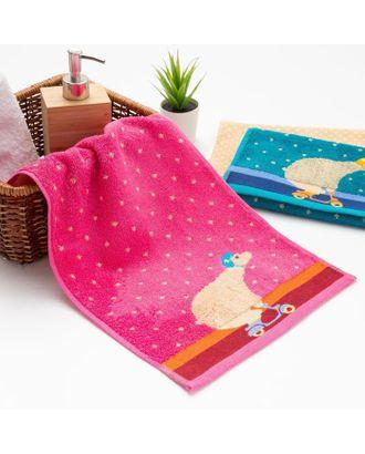 """Полотенце махровое Крошка Я """"Мишка""""Вид 2, 25*50 см, цв.розовый, 100% хлопок, 400 гр/м2 арт. СМЛ-125263-1-СМЛ0005469151"""