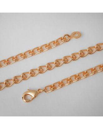 "Цепь ""Голден"" двойная, цвет золото, ширина 4 мм, L=60 см арт. СМЛ-122175-1-СМЛ0005477239"