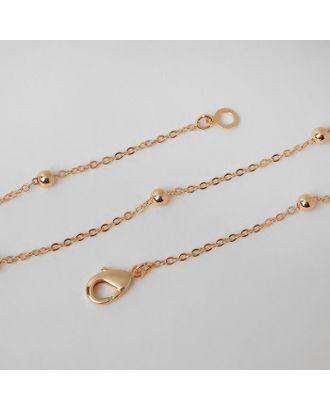 """Цепь """"Эйфория"""" бусины, цвет золото, ширина 3 мм, L=59 см арт. СМЛ-125023-1-СМЛ0005477952"""