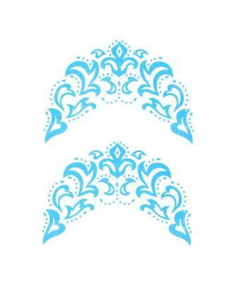 """Термонаклейка """"Морозный узор"""", синяя с серебром, в наборе 6 штук арт. СМЛ-125748-1-СМЛ0005494228"""