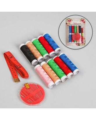 Набор для шитья на блистере, цвет МИКС арт. СМЛ-24492-1-СМЛ0550139