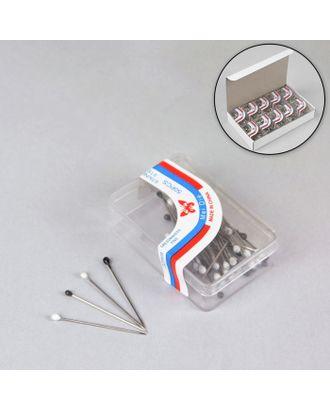 Булавки портновские в пластиковой коробке, 25 мм, цвет черно-белый арт. СМЛ-32764-1-СМЛ0555034