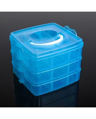 Бокс для хранения, 3 яруса, 18 отделений, цвет МИКС арт. СМЛ-20849-1-СМЛ0563668