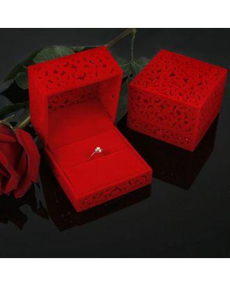 """Футляр под кольцо """"Резной куб"""", 6*6 арт. СМЛ-22067-1-СМЛ0576237"""