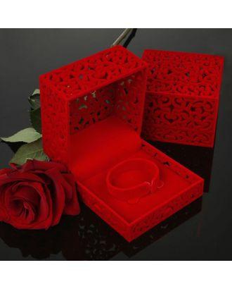 """Футляр под кольцо """"Резной куб"""", 6*6 арт. СМЛ-22067-2-СМЛ0576238"""