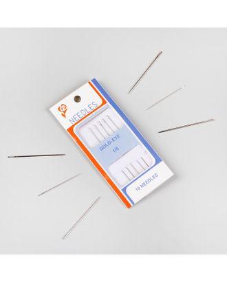 Иглы швейные для бисера, d = 0,55 мм, 5,5 см, 5 шт арт. СМЛ-29450-1-СМЛ0633666