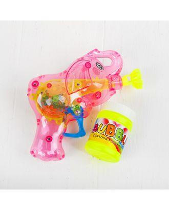 Мыльные пузыри «Слоник-пистолет» со светом, 50 мл, цвета МИКС арт. СМЛ-125108-1-СМЛ0000728877