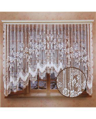 Штора 470х165 см, белый, 100% п/э, шторная лента арт. СМЛ-24682-1-СМЛ0740148