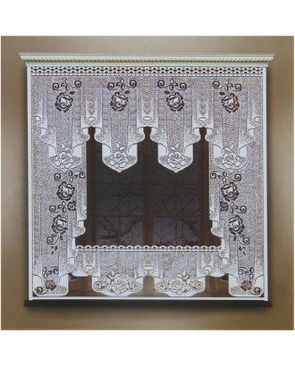 Штора 170х160 см, белый, 100% п/э, без шторной ленты арт. СМЛ-24683-1-СМЛ0740149