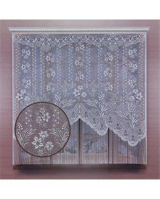 Штора кухонная 170х175 см, белый, 100% п/э, без шторной ленты арт. СМЛ-24687-1-СМЛ0740159
