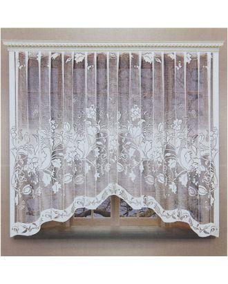 Штора 270х160 см, белый, 100% п/э, шторная лента арт. СМЛ-24692-1-СМЛ0740174