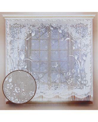 Штора кухонная 170х170 см, белый, 100% п/э, без шторной ленты арт. СМЛ-24699-1-СМЛ0740201